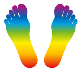 Feet Rainbow Colored