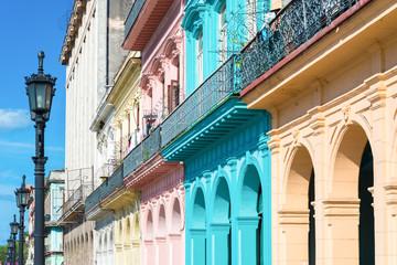 Foto op Plexiglas Caraïben Colorful buildings in Old Havana