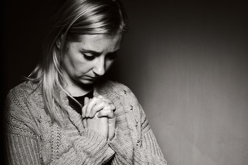 Praying woman.