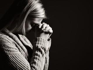 Praying woman.