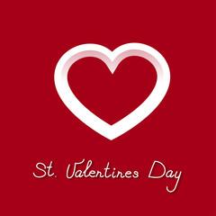 pretty icon white heart for valentines day