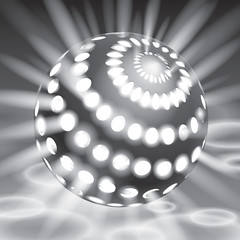 Vector glowing from the inside sphere, vector form, creative art
