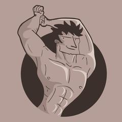 Muscle sport man