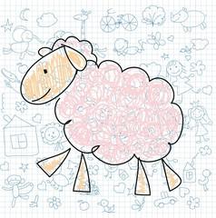 Детские рисунки каракули овец