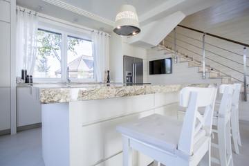 Luxurious bright kitchen