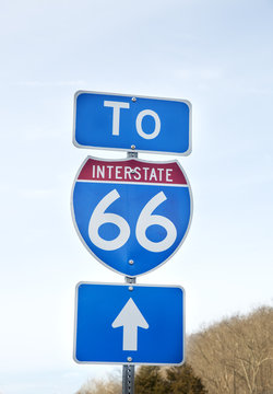 Route 66 sign in Northern Virginia area