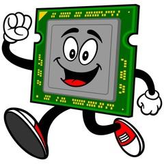 Computer Processor Running