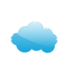Blue cloud isolated on white background