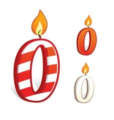 Birthday candle number zero