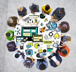 Diversity People Responsive Design Digital Content Concept