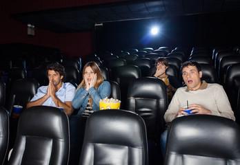 Shocked People Watching Film