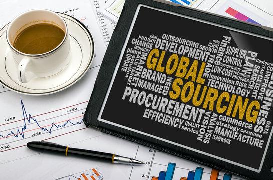 global sourcing word cloud