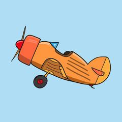 vintage plane. vector illustration