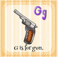A letter G for gun