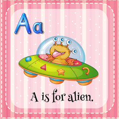 A letter A for alien