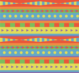 geometric ethnic pattern  for background or design in vector
