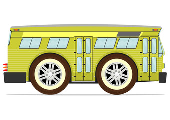 Retro american bus