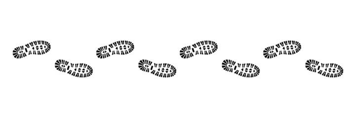 Spur, Schuhabdruck mit Profil, Vektor, schwarz, freigestellt Fotobehang