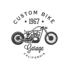 Custom bike. Garage