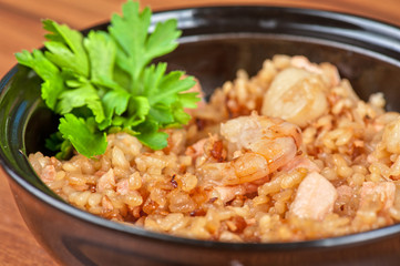Shrimps risotto