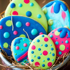 Wall Mural - Easter egg cookies