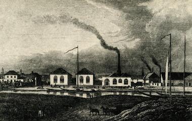 Berlin's first fuel gas producer (Gaserleuchtungsanstalt ,1826)