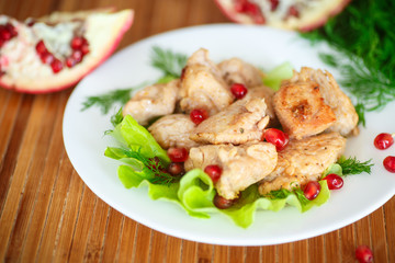 roasted chicken with pomegranate seeds