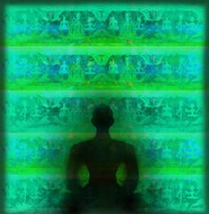 Yoga lotus pose.