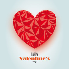 Abstract vlentine card vector design
