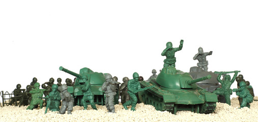 battle tanks plastic toy panorama