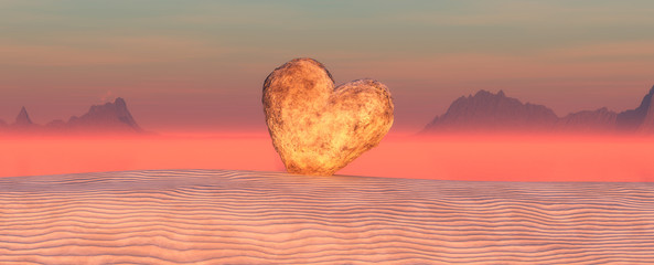 dune and heart