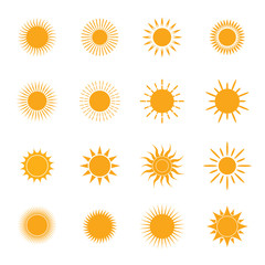 vector yellow symbol of sun