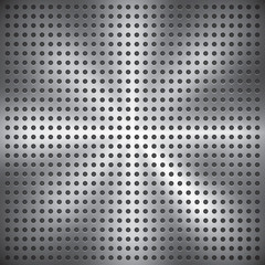 Holey metal surface, vector texture