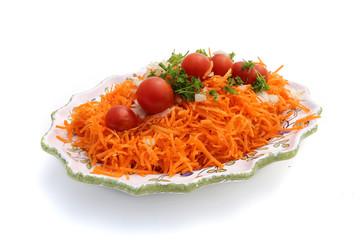 Wall Mural - salade de carottes râpées