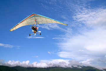 Flight Motorized hang glider