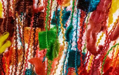 colored shiny thread