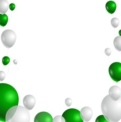 illustration of green and white balloons for you design
