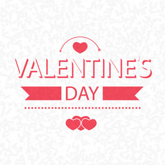 valentines day on scribble abstract pattern white. Vector
