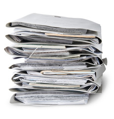 In Front Files Arranged In Stack