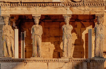 Caryatides, Acropolis of Athens, Greece