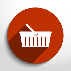 Vector shopping cart web flat icon.