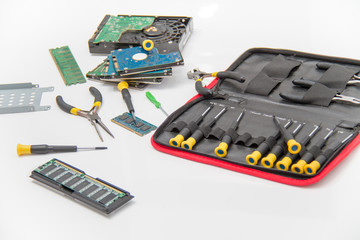 Laptop repair tools and technical support