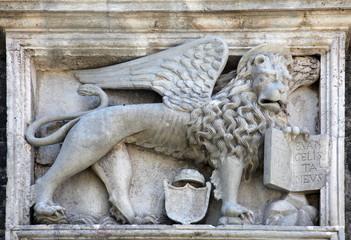Relief sculpture of Venetian winged lion, Kotor, Montenegro