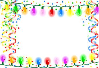 Party Hintergrund mit Lichterkette und Textfreiraum