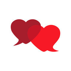 Love-chat - speech bubble.