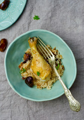 Stewed chicken with rice