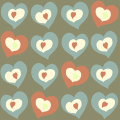 hearts different color and size