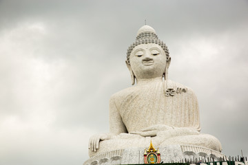 Big Buddha monument on island of Phuket in Thailand