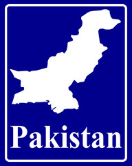 silhouette map of Pakistan
