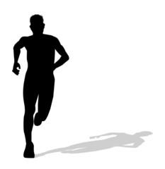 silhouette di uomo che corre